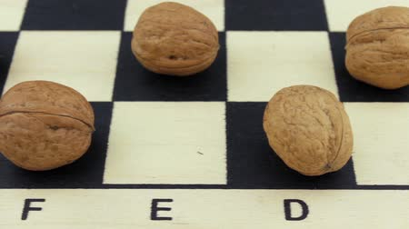 usual : Nuts instead of chess on a board