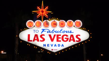 las vegas boulevard : Las Vegas, USA-November 07,2017: Welcome To Las Vegas Sign Illumination At Night