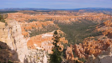 fennsík : Pan Top View On Sand Mountain Red Orange Bryce Canyon National Park USA