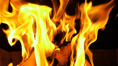fireplace : Fire Burning In Fireplace, Flames And Burning Wood, Super Slow Motion 180 FPS