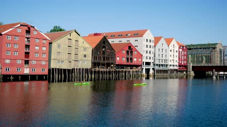 trondheim : Trondheim, Norway-July 27, 2018: Beautiful Colorful Houses