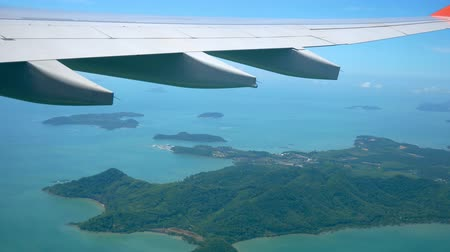 tengeri : View From The Window Of The Plane That Took Off Over The Tropical Islands