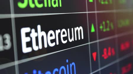 Ethereum on exchange chart in focus.