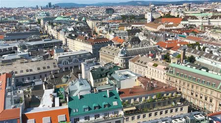 st stephen : View from St. Stephens Cathedral over Stephansplatz square in Vienna, capital of Austria on sunny day