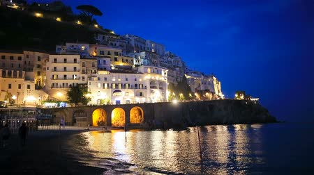 amalfitana : Beautiful coastal towns of Italy - scenic Amalfi village in Amalfi coast Stock Footage