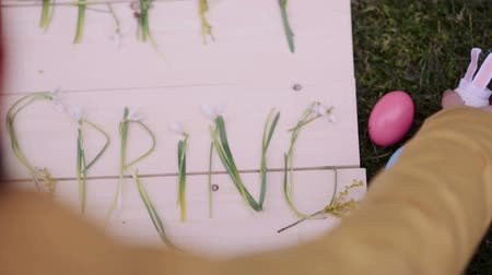 springtime : preparing for Easter Stock Footage