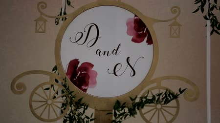 calligraphic : wedding decoration letters
