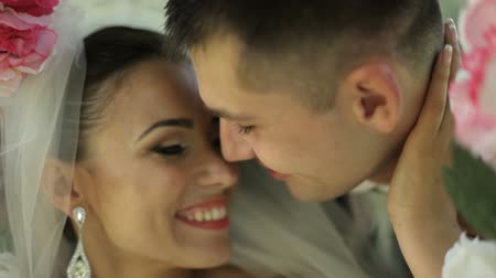 genç çift : beautiful newlyweds gently embrace. young couple in love . tenderness love