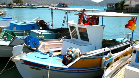 Greece. Ships and boats in the harbor.