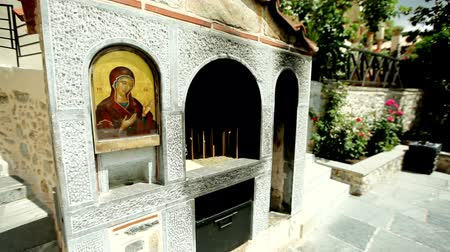 manastır : visiting the holy places of Greece Stok Video