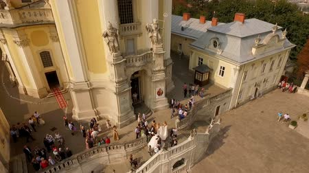 юра : Aerial view of St. Georges Cathedral Lviv Ukraine. Wedding