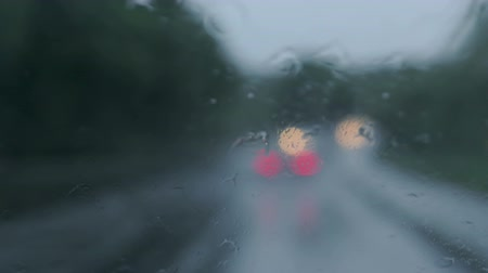rainy : bad weather driving - country road