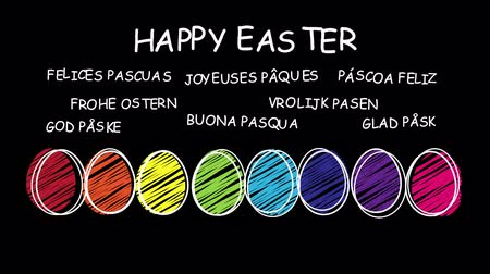 easter : Happy Easter - different languages