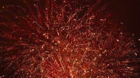 arife : Beautiful Red Fireworks - slow motion - audio