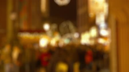 pedestrian only : Abstract Defocused Christmas Background - pedestrian-only shopping street - sequence