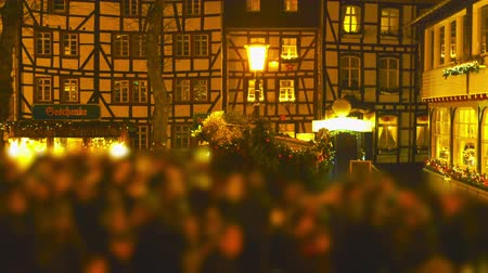 mulled wine : Christmas Market Impressions - beautiful Christmas market by night - time lapse - ProRes Stock Footage