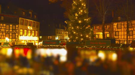 Christmas Market Impressions - beautiful Christmas market by night - time lapse - ProRes Vídeos