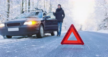 escorregadio : Accident Ahead - Seamless Loop - Winter Driving Cinemagraph - ProRes Stock Footage