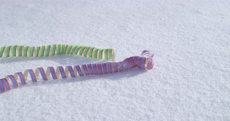 jubileu : Party in the snow - streamers - celebration concept - ProRes
