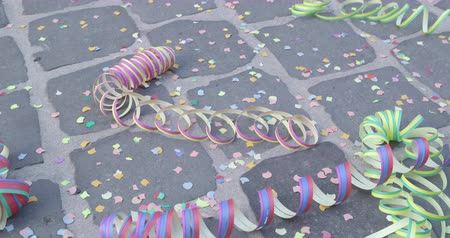 jubileu : Streamers and a shower of confetti - carnival concept or celebration concept - ProRes
