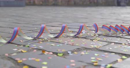 jubileu : Confetti and and streamers - carnival concept or celebration concept - ProRes
