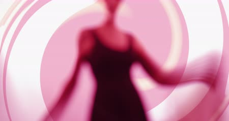 sonhar acordado : In the swirl - elegant woman is dancing gracefully in front of an abstract background - ProRes