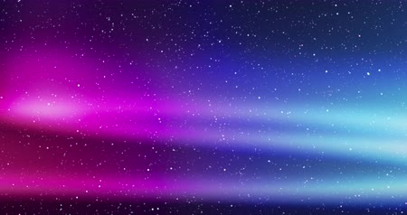 Seamless looping video - beautiful multicolored aurora light phenomenon in a night sky with twinkling stars - digitally generated video - ProRes Vídeos
