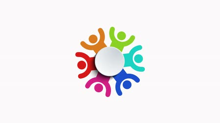 sociedade : group of people logo animation on white