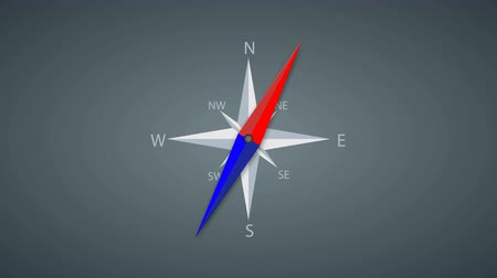 náutico : Footage modern compass rotation background. 4k video animation.