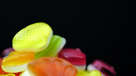 dragee : Footage of bright tasty colourful marmalade jelly candies rotate
