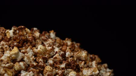 tuzlu : popcorn rotate motion background. Stok Video