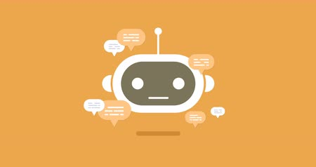 разведка : animation modern flat chat bot with speech bubble icons