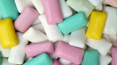 lezzet : Footage different colors chewing gum rotate