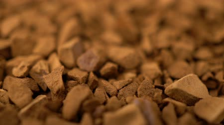 scented : Footage coffee granule rotating background. Stock Footage