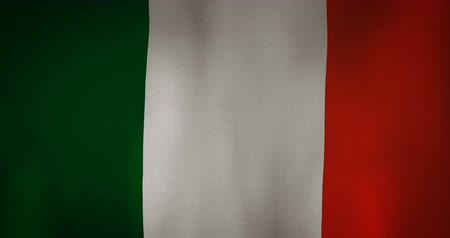 şaft : Ireland flag fabric texture waving in the wind. Stok Video
