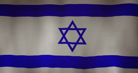jewish : Israel flag fabric texture waving in the wind.