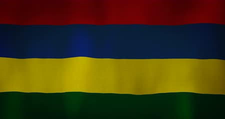 nationality : Mauritius flag fabric texture waving in the wind.
