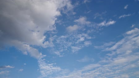 dark sky : Time-lapse footage of Cloud movement under the clear blue sky