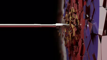 цель : HD1080p: Slow Motion shot of an arrow crushing the target.