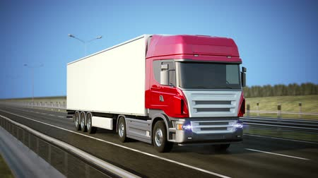 camionagem : Logistics - Trucking. High quality 3d animation. Loopable