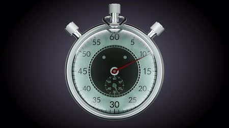 minute hand : Ticking chronometer (stopwatch) Realistic animation. Alpha matte added.
