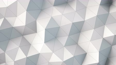 nagy felbontású : white polygonal geometric surface. computer generated seamless loop abstract motion background.  high-resolution 3D rendering. 4k UHD