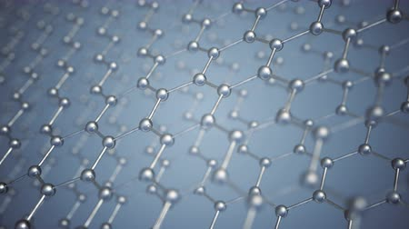 атомный : Seamlessly loopable animation of the graphene structure