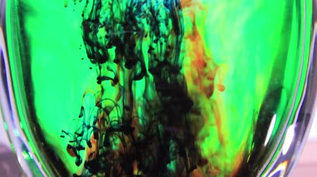 colorful dye floating down Stok Video
