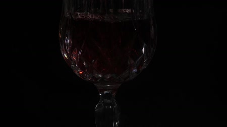 wine poured into glass Stok Video
