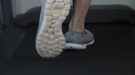 shoes walking on treadmill
