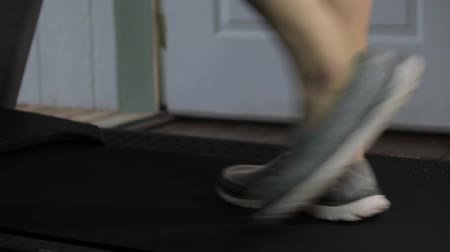 shoes on the treadmill