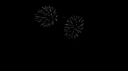 finale : beautiful organized fireworks Stock Footage