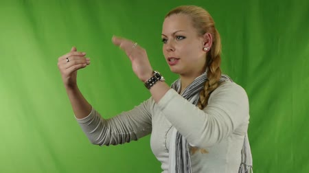 interdiction : woman showing stop gesture
