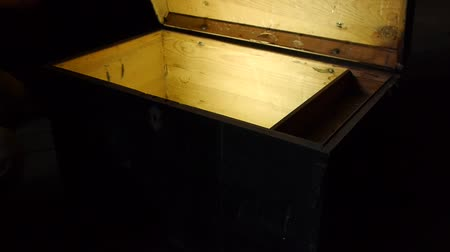 tesouro : Old wooden pirate treasure chest